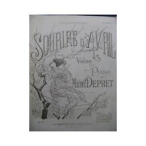 Antiquarische Noten/songbooks Aktiv Depret Maurice Sourire D'avril Piano Partitur blatt Music Score Heller Glanz