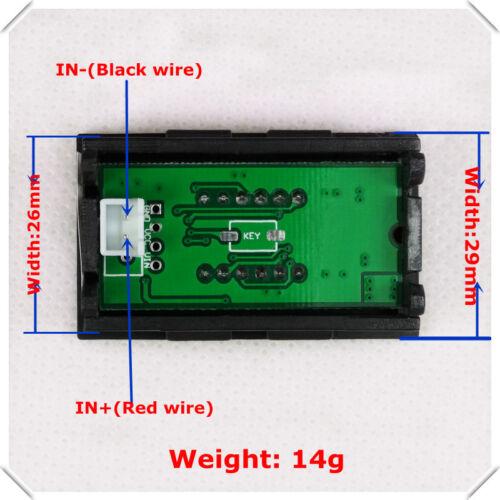 DC 3.50-30V 4 DEL Digital Voltmètre Volt Voltmètre 5 V 12 V 24 V Batterie Voiture R