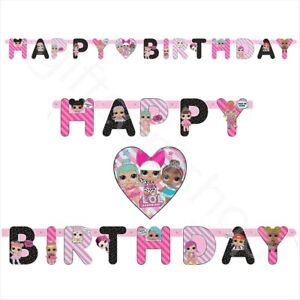 LOL-Surprise-Party-HAPPY-BIRTHDAY-Banner-Bunting-Girls-Birthday-Decoration-5-5ft