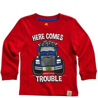 Carhartt Baby Here Comes Trouble Tee Red Newborn To 4t