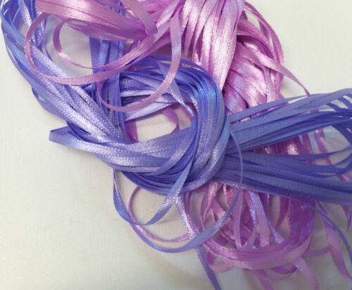 Lavender Shades 10 metres NARROW RIBBON Craft Ribbon