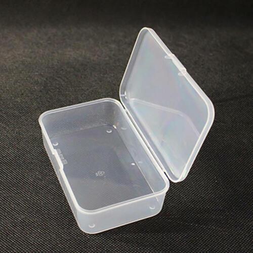 2Stk Kunststoff Transparent Aufbewahrungsbox Kollektionskoffer mit Deck ZPN