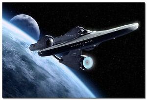 Star Trek Movie Art Silk Poster USS Enterprise Wall ...
