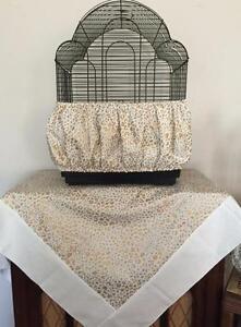 Handmade Gold Cheetah Print Bird Cage Skirt Seed Catcher Guard or Cover XS-XXL