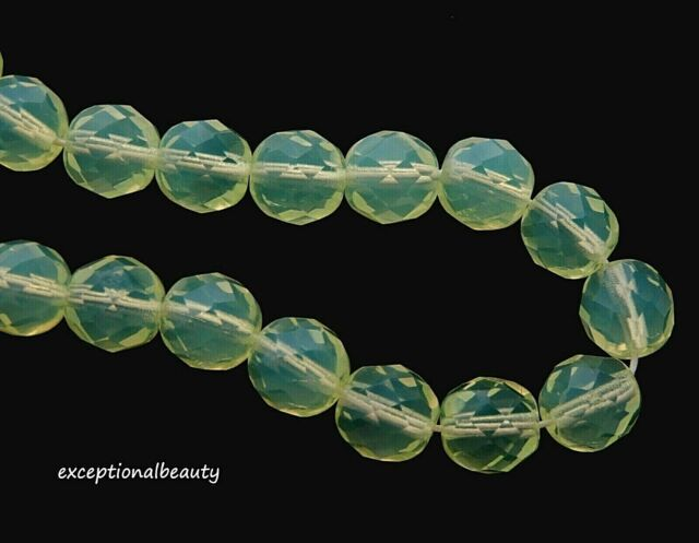 50 6mm Czech  Fire Polished Opal Dark Sapphire Round Faceted Craft Glass Beads