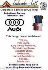 Audi Embroidered T-Shirt.Colours & Sizes Other Car Logo's & Clothing Available