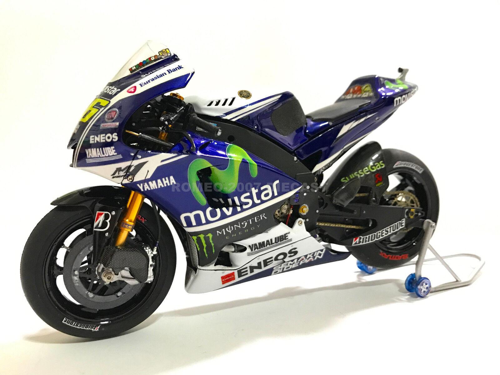 1 12 Tamiya Full Detail Yamaha M1 Valentino Rossi 2014 Misano Bike NEW