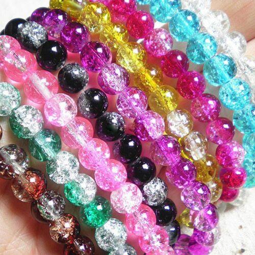 Mignon Accessoires Crack cadeaux Craft À faire soi-même Crack Crystal 100Pcs Coloré Perles
