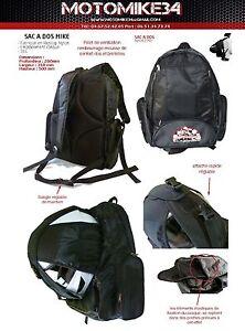 sac dos moto pour casque support sac dos scooter quad moto neuf 36 litres ebay. Black Bedroom Furniture Sets. Home Design Ideas