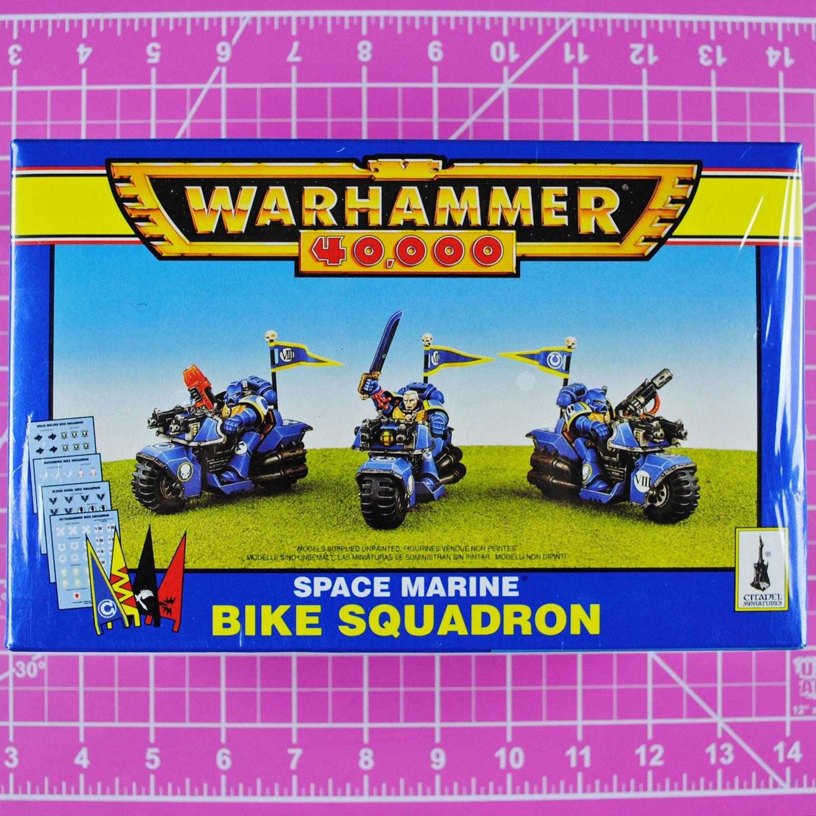 Warhammer 40k space marine motorrad - staffel (metall und kunststoff) - - klassiker