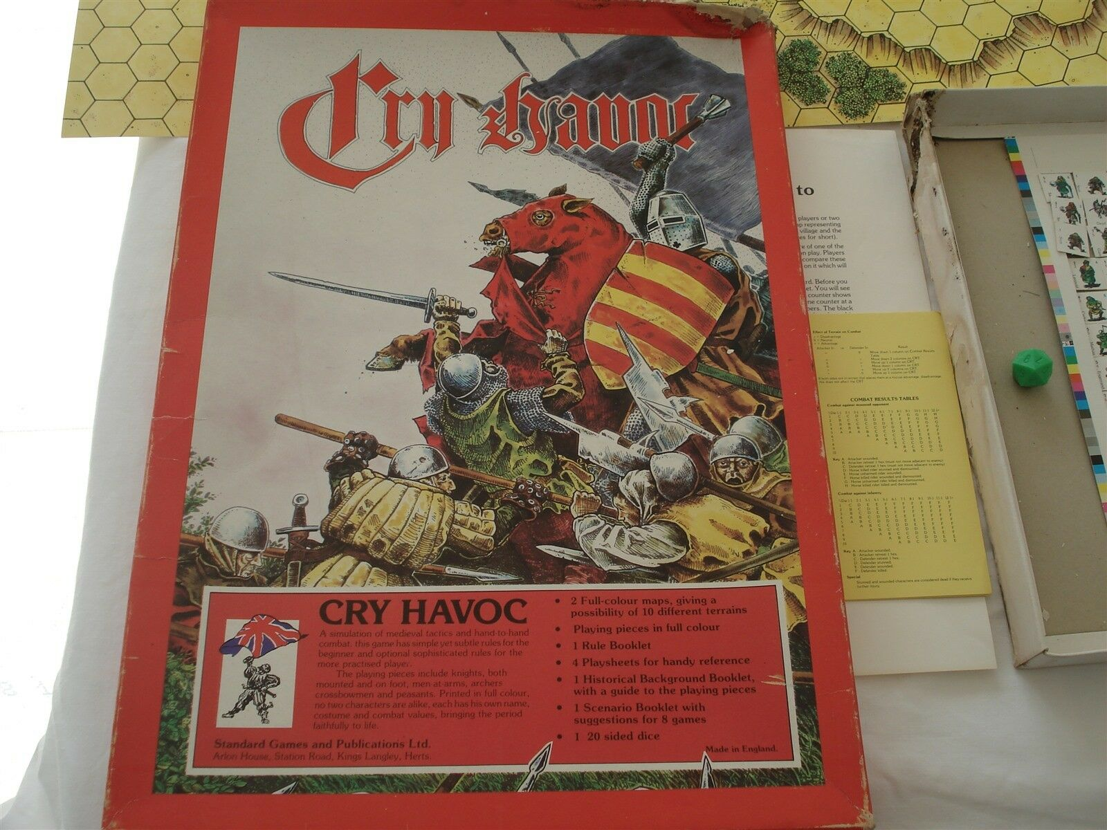 CRY HAVOC GAME - STANDARD GAMES - 1981 - CRY HAVOC - 100% - RARE - COMBAT GAME