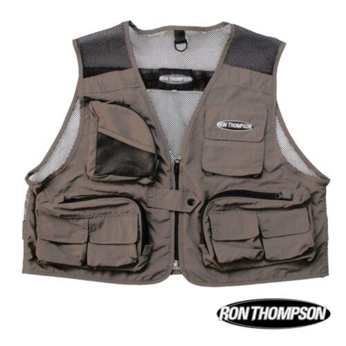 Ron Thompson Mesh Lite Fly Fishing Vest réglable à la taille taille