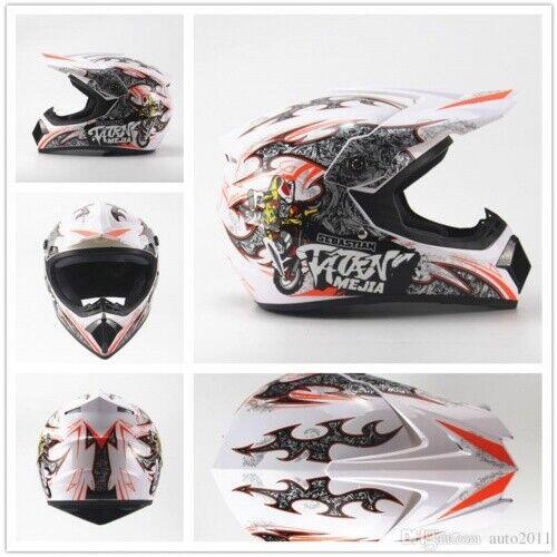 Kinder Crosshelm Mejia Cross Helm Motorradhelm Kinderhelm Quadhelm white