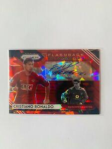 Panini Red Prizm Soccer 1 of 1 Cristiano Ronaldo Autograph Red Portugal Jersey