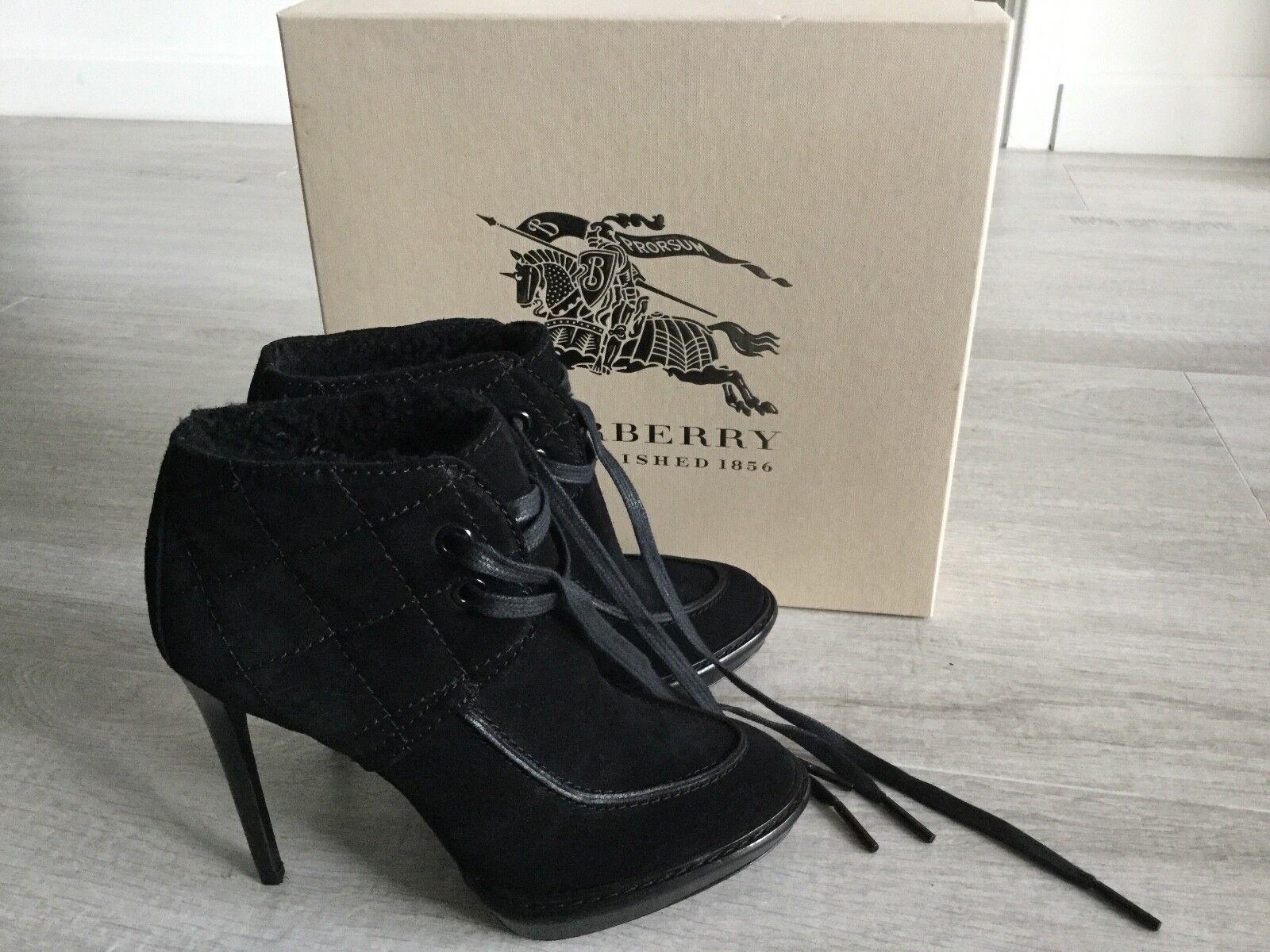 NIB BURBERRY PRORSUM mujer  995 SUEDE furs ANKLE ANKLE ANKLE botas SZ US 7.5 EU 37.5  venta de ofertas