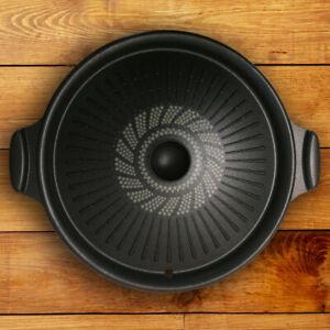 Korean Tabletop Center Raised Round Grill Pan For BBQ Indoor Bulgogi Grill Tools