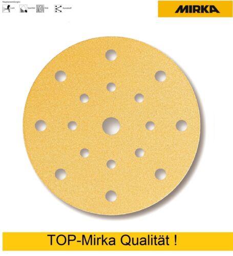 Mirka Gold Klettscheiben Schleifscheiben 150 mm 17-fach gelocht Körnung wählbar