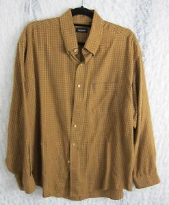 4415a5238d4 Van Heusen Mens Button Down Checked Shirt Size L 16-16 1 2 Cotton ...