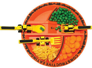 Constructive Eating 72000 Construction Plate - Orange