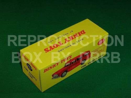 Canadian-Nash Rambler Reproduction Box par drrb Dinky #257 Fire Chief/'s Car