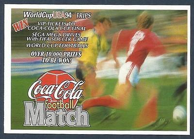COCA-COLA FOOTBALL MATCH USA 1994-SCRATCH CARD-WEST HAM UNITED
