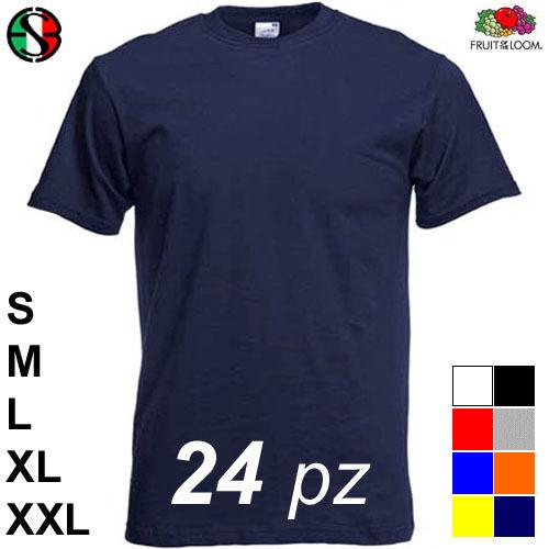 Magliette Stock 24 T-Shirt neutre Fruit of the Loom libera scelta Offerta Uomo