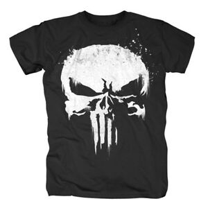 Shirts & Hemden Gelernt The Punisher Sprayed Skull Logo T-shirt RegelmäßIges TeegeträNk Verbessert Ihre Gesundheit Kleidung