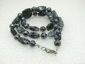 Snowflake-Obsidian-amp-Magnetite-Hematite-Beaded-Necklace-29-5-034
