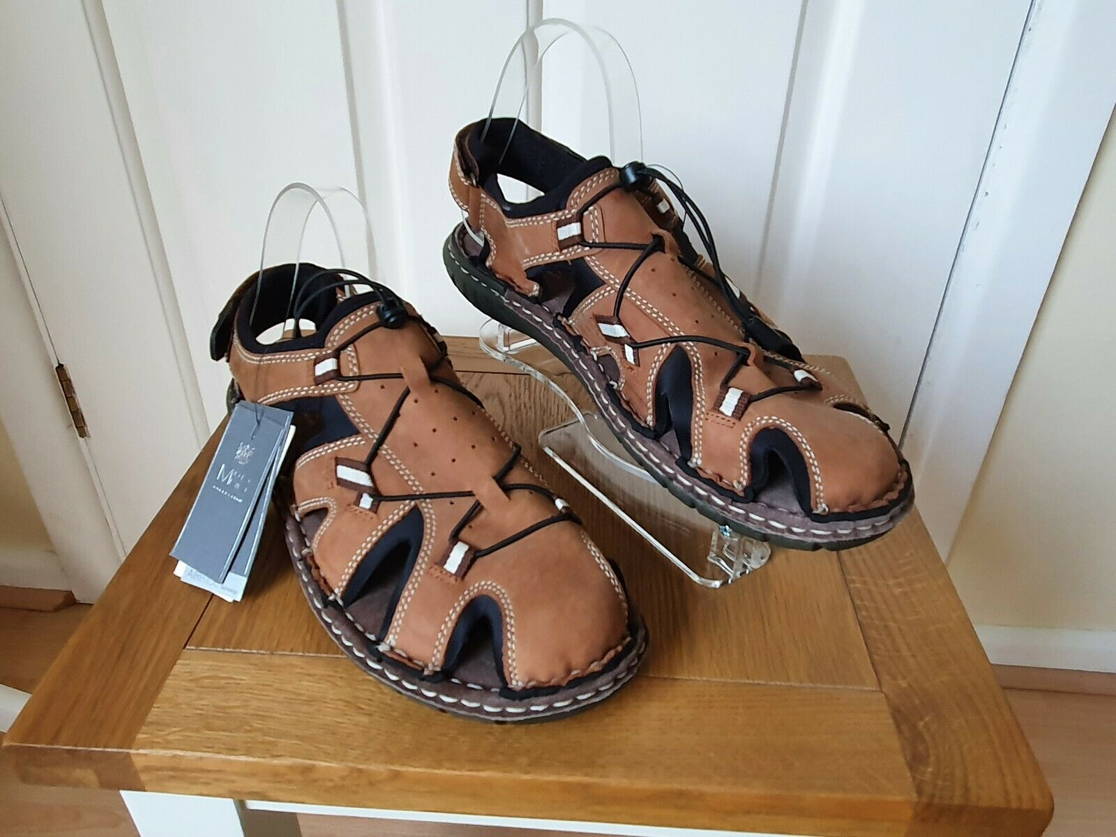 Marks & Spencer Airflex Total Comfort BNWT New Men's Leather Sandals Size UK 10