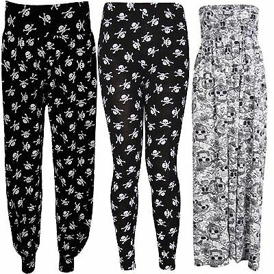 Xclusive Collection New Womens Plus Size Polka Dot Printed Leggings Harems Palazzos Trousers