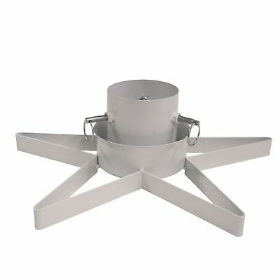Star Shaped Metal Christmas Tree Stand up to 2.8m White Urban Industrial Décor