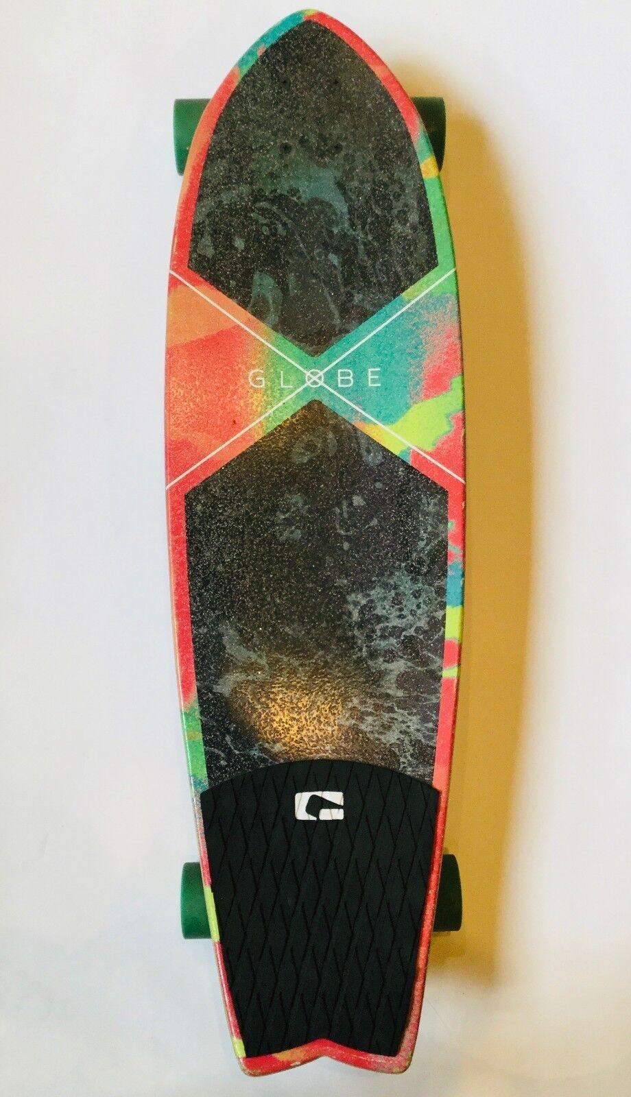 34  Vibrant  Watercolor GLOBE Longboard  discounts and more