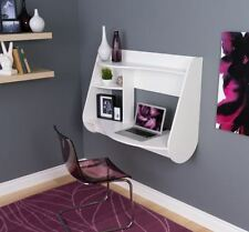 Wall Mounted Desk Small Hang Space Saver Floating Store Computer Writing White