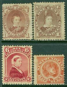 EDW1949SELL-NEWFOUNDLAND-1871-96-Sc-32A-36-41-57-Mint-Tiny-faults-Cat