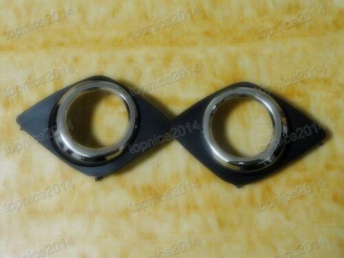 1Pair Fog Lamp Hole Cover Trim Bezels For Toyota RAV4 2009-2012