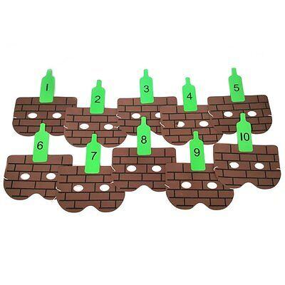 Dieci Bottiglie Verdi Canzone Maschere-per Bambini Scuola Degli Insegnanti I Numeri Di Apprendimento Maschere-mostra Il Titolo Originale