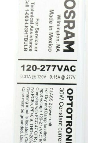OSRAM OPTOTRONIC OTi30 OTi48120-277//1A0 LED Dimmable Power Supply Driver