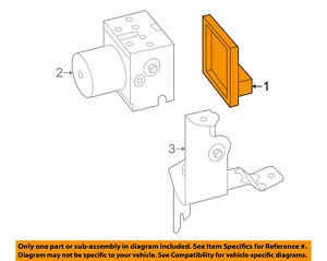 Details about FORD OEM 05-06 Mustang ABS Anti-Lock ke System-Control on