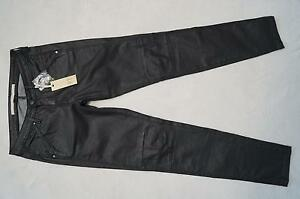 Part Enna L Gr 38 Neu Slim Lederlook JeansHose Two Schwarz Fit 32 ALj53R4