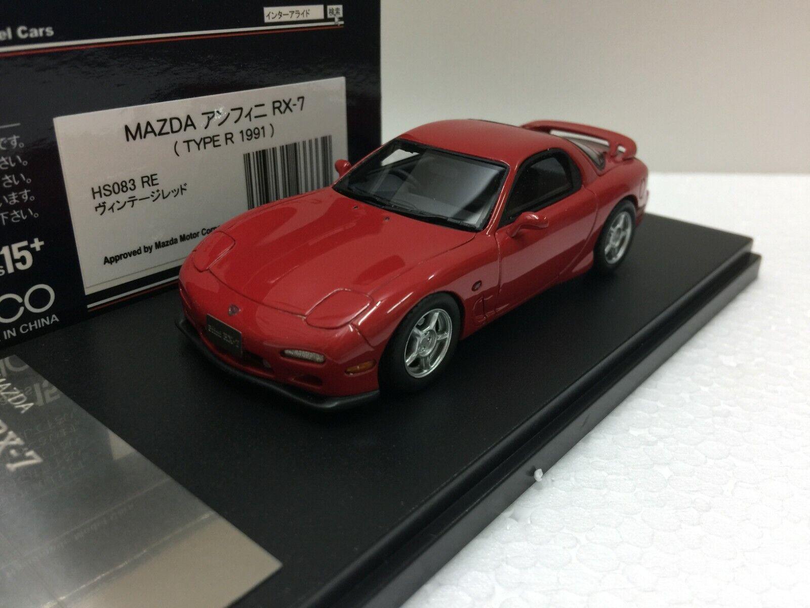 1   43 hi Story hs083re Mazda efini Savana rx7 modelo de resina fd3s
