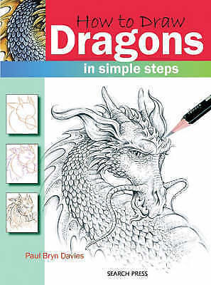 1 of 1 - Dragons (How to Draw), Acceptable, Paul Bryn Davies, Book