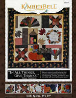 In All Things, Give Thanks Wall Hanging Quilting Pattern, From Kimberbell