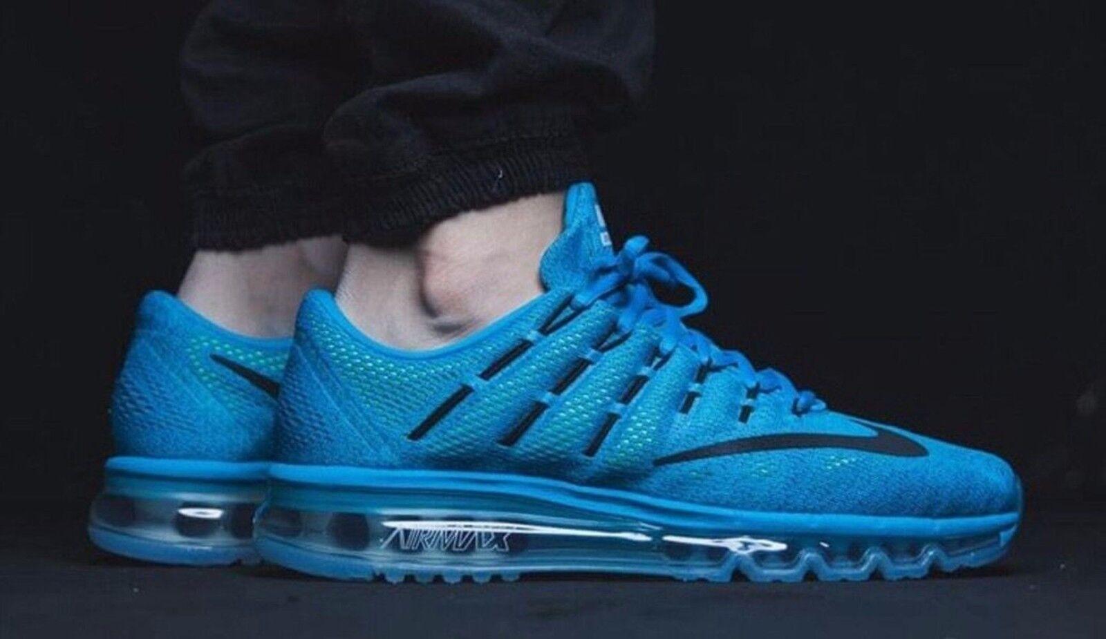 Nike air max 2016 Uomo sz 12 806771-400 laguna blu / nero coraggioso blu