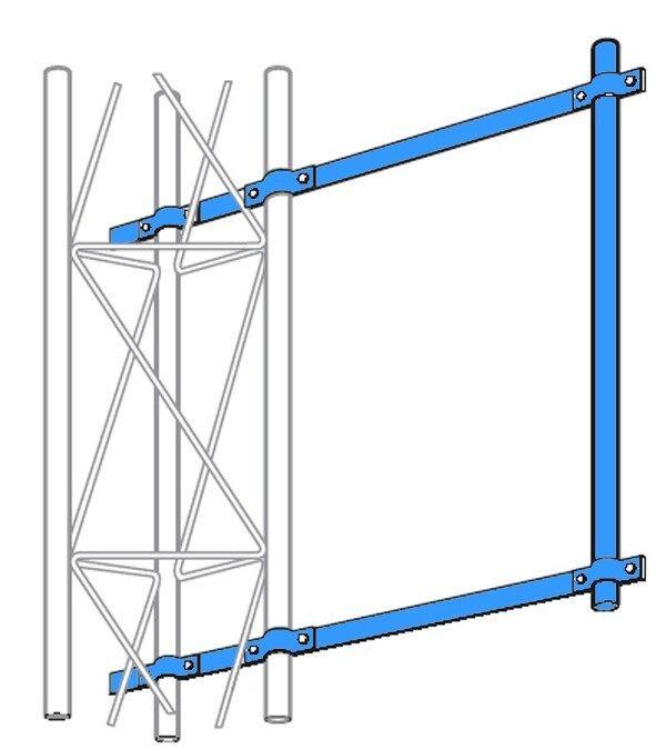 ROHN SA253UA Universal Side Arm Mount for 25G 45G 55G 65G Tower ( R-SA253UA). Buy it now for 215.00