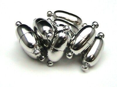Antique Silver Magnetic Jewellery Clasps 18mm Findings Beading DIY Necklace ML