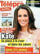 french magazine Télépro N°3035 kate middleton et william keira knightley 2012