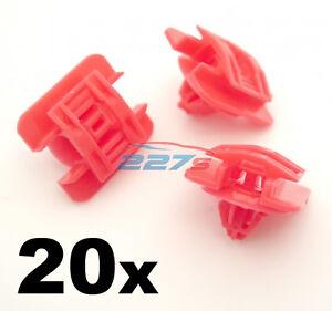 20x-porte-Bumpstrip-cote-moulage-garniture-clips-pour-renault-clio-MK1-90-98