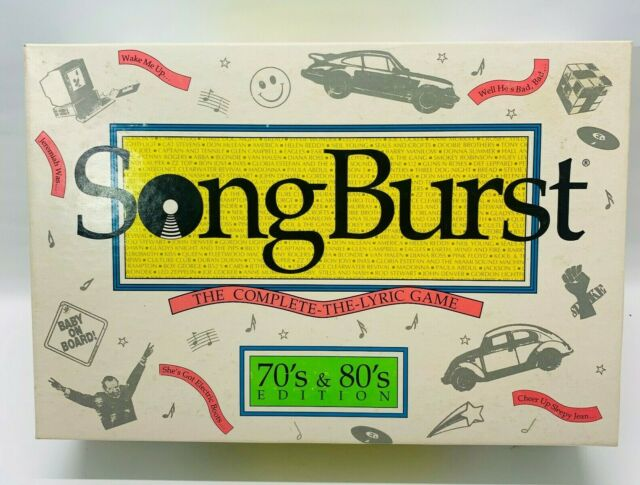 Hersch SongBurst : The Complete The Lyric Game 70's & 80's Edition vintage~NIB!