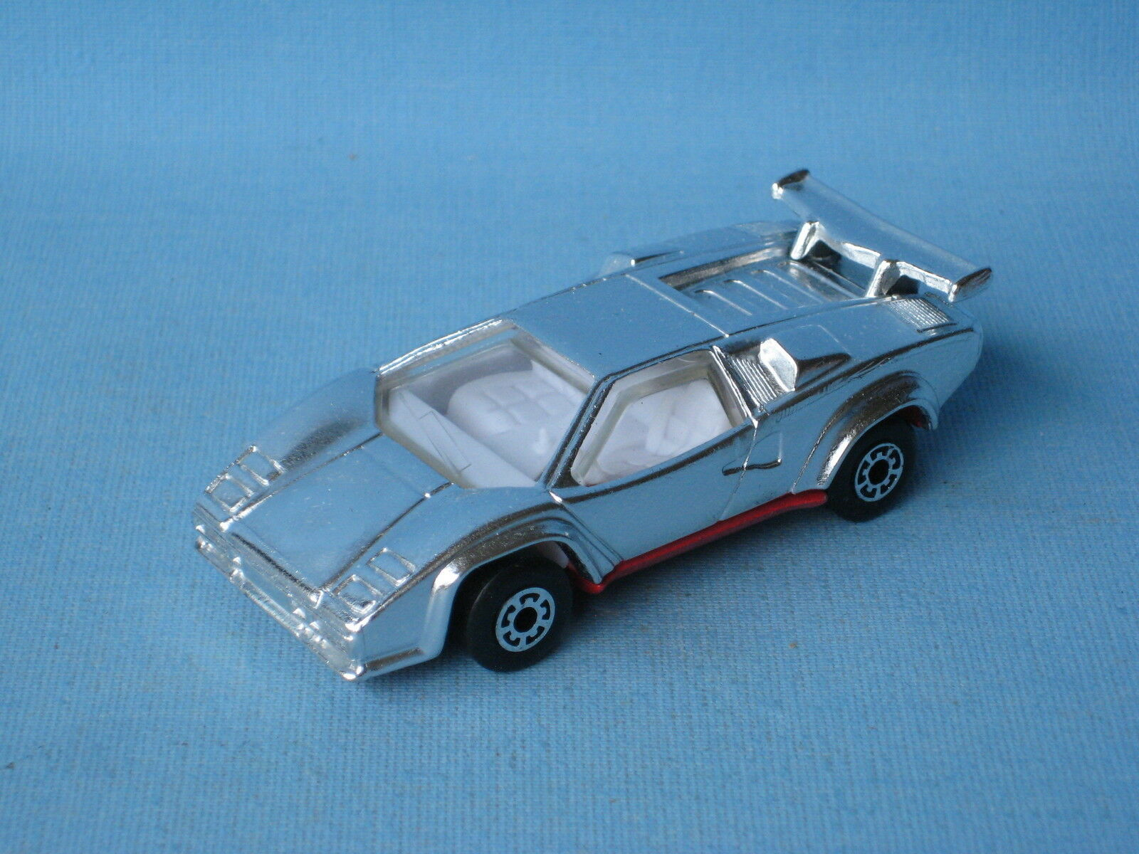 Matchbox Lamborghini Countach Unreleased Chrome Version Pre-Pro 75mm