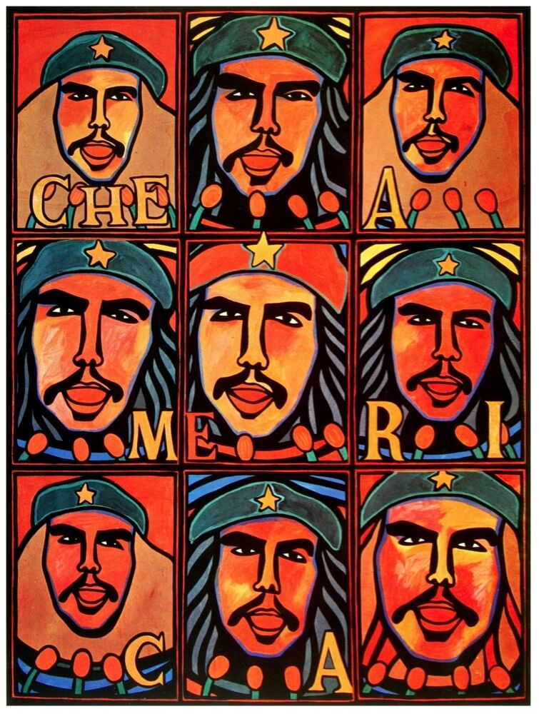 9689.Che america.images of revolutionary.POSTER cor Home Office art